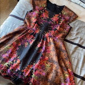 City Chic Textured Fit and Flare Dress